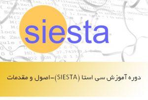 دوره آموزش سی استا-SIESTA- اصول و مقدمات